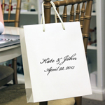 White Personalized Euro Tote Bags