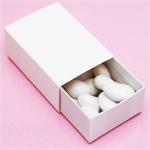 Large White Slide Favor Box