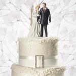 Winter Wonderland Wedding Couple Cake Topper