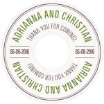 Woodland Personalized Wedding CD Labels - 6 pcs