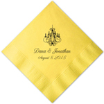 Yellow Personalized Napkins - 25 pieces