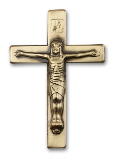 Antique Gold Crucifix Visor Clip