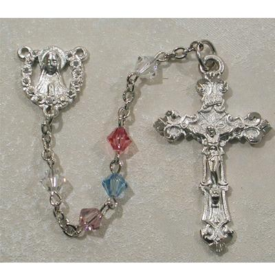 Multi-Color Swarovski Crystal 5mm Bead Rosary