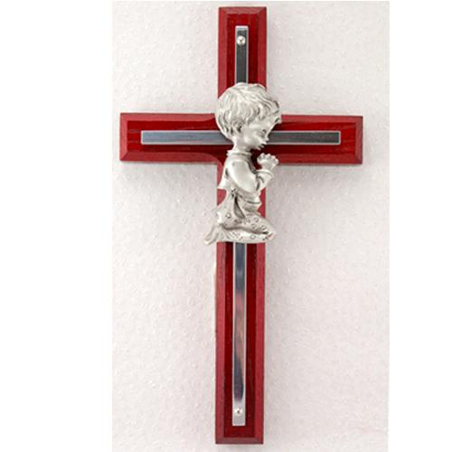 6 Inch CHERRY BOY CROSS WITH SILVER