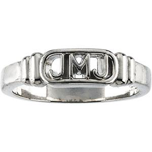 Jesus, Mary And Joseph Ring - Men's Sterling Silver