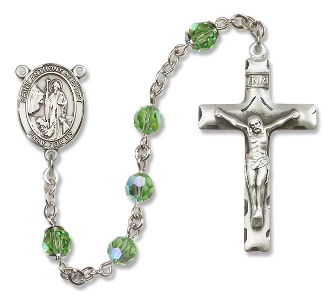 St. Anthony of Egypt Peridot Rosary