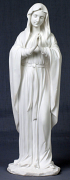 Praying Virgin - Veronese in white resin, 11.75 inch