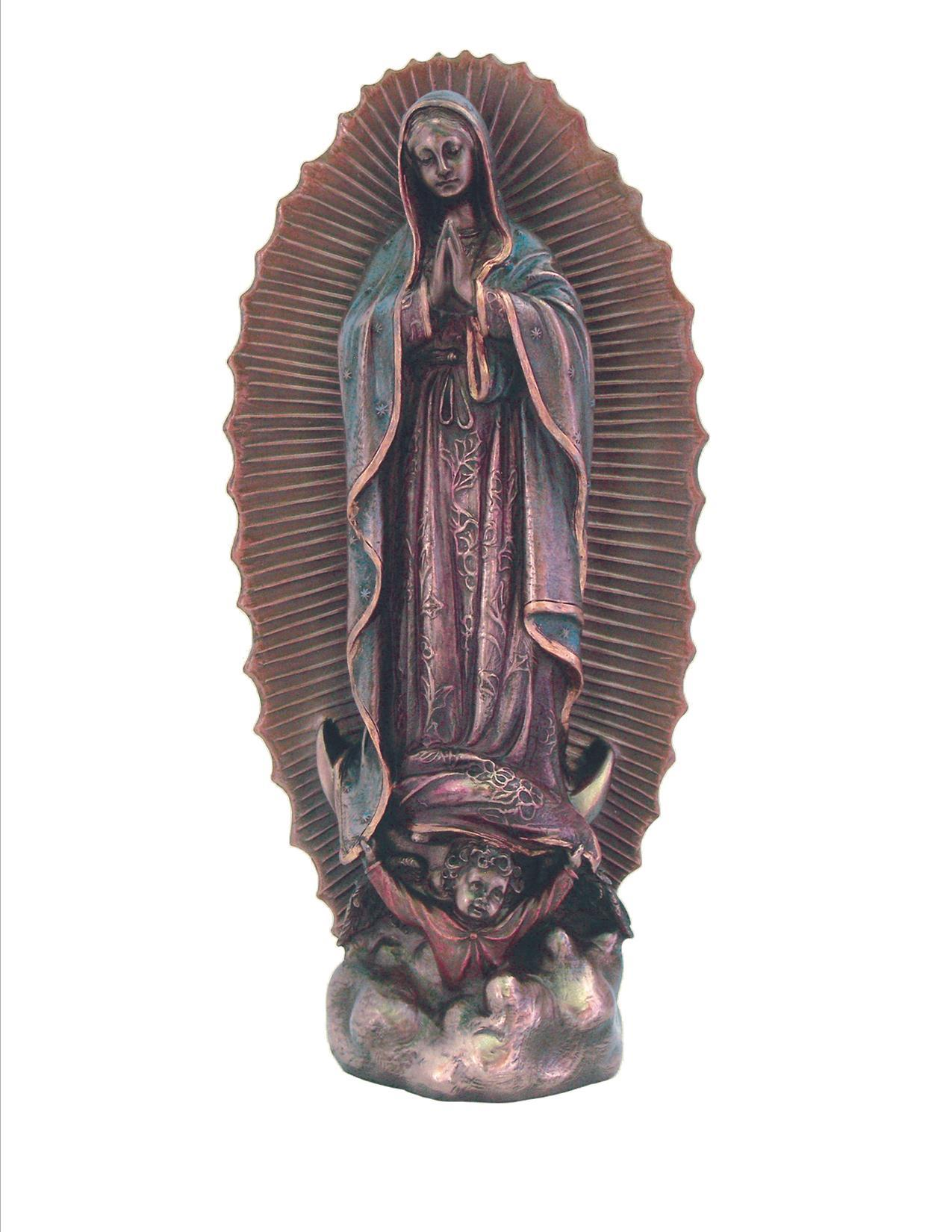 Our Lady of Guadalupe - Veronese, bronzed resin, 9.5 inch