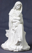 Madonna and Child - Veronese, white resin, 6 inches tall