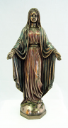 Lady of Grace - Veronese, bronzed resin, lightly hand-painted, 10 inch