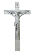 Crucifixion - Veronese, in white resin, 10 inch