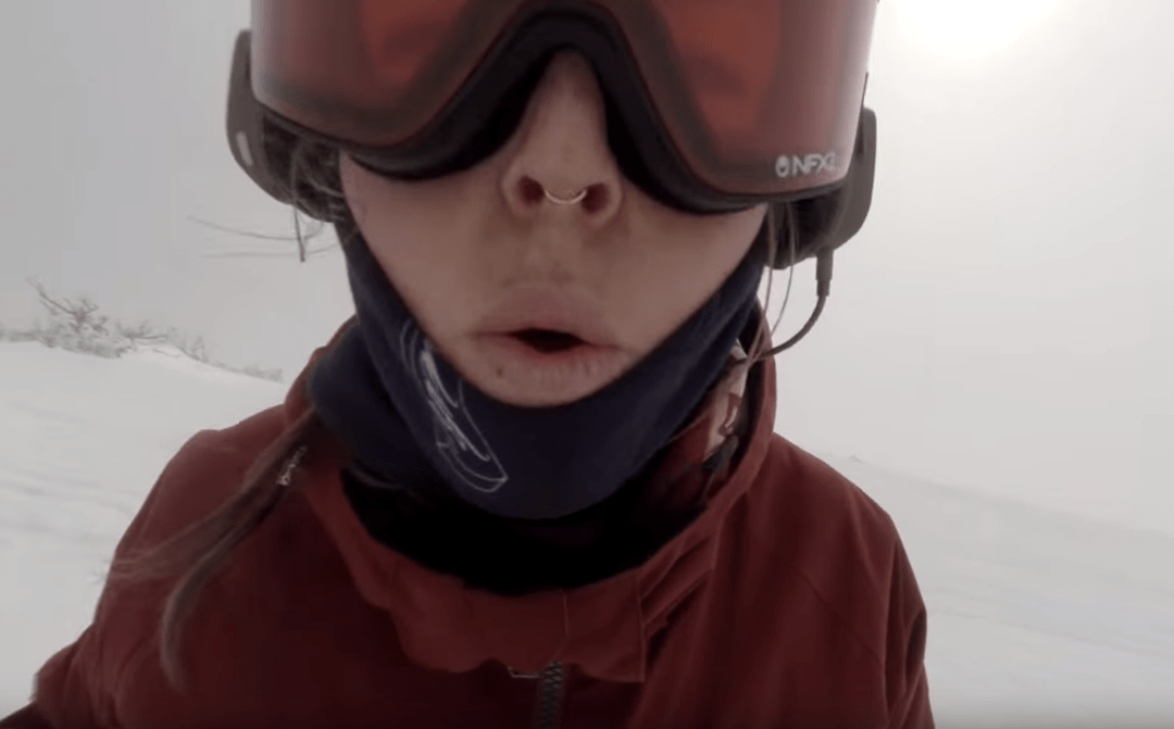 Was a Snowboarder Chased by a Bear?
