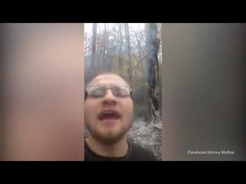 Video: Extremely dumb 'idiot' sets wildfire to get attention to his FB videos
