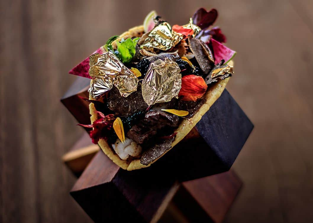 ,000 Taco Includes a Gold-Infused Tortilla and a Salsa Made From Beans Pooped Out by a Cat