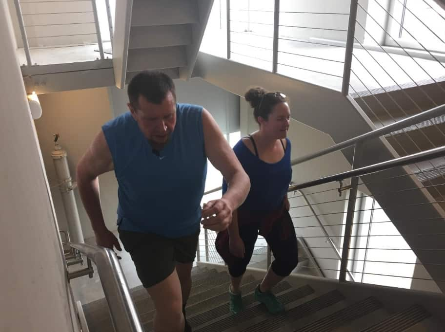 A Guy Lost 170 Pounds Climbing Stairs on His Lunch Break . . . and Also Got a Girlfriend Out of It