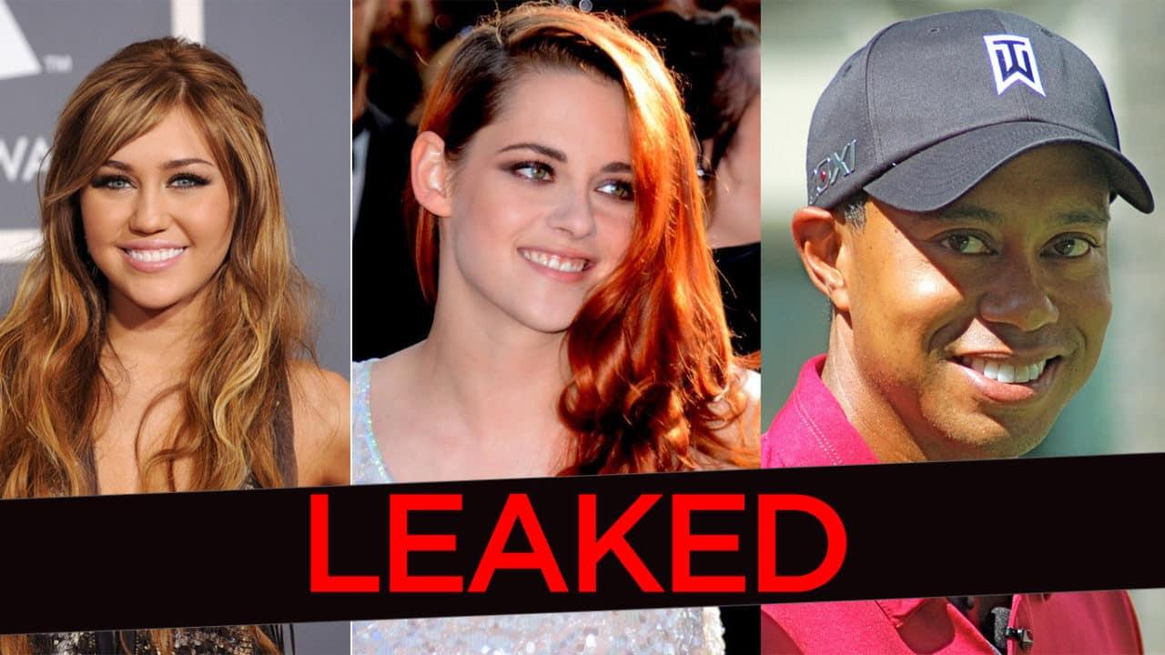 Tiger Woods, Lindsey Vonn, Katherine McPhee, Kristen Stewart, and Miley Cyrus Had Nude Photos Leaked