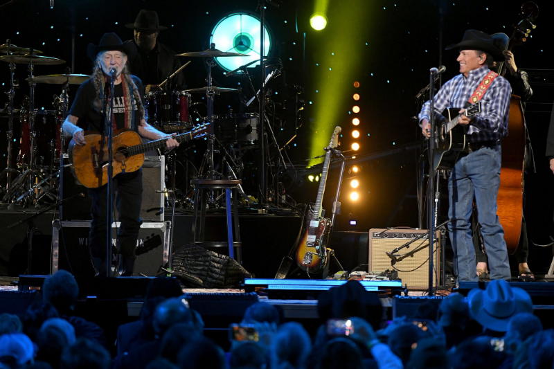VIDEO: Willie Nelson and George Strait Performed Together for the First Time on Saturday