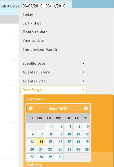ObjectiveMarketer Reports can generate results on Date/Time Range