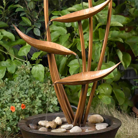 copper cascade water feature