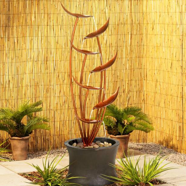 Autumn Copper Cascade Water Feature