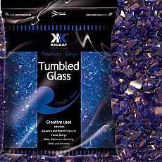 Kelkay Tumbled Glass Cobalt Blue