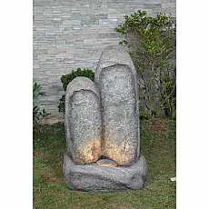Granite Double Monolith Water Feature