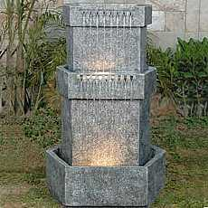 Large Granite 3 Level Hexegon Water Feature