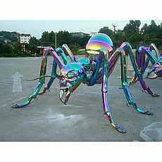 Stainless Steel Multi-Coloured Giant Ant Sculpture