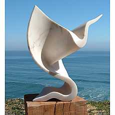Marble Stingray sculpture
