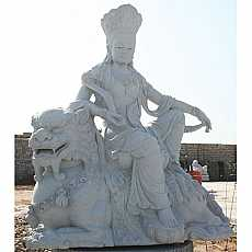Granite Buddha Sat on Dragon Sculpture