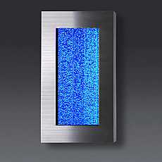Stainless Steel Bubble Wall Mounted Water Feature with Colour Changing LED Lights
