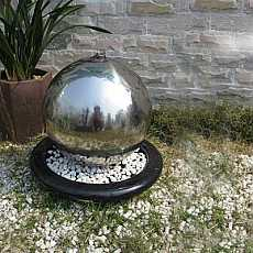 Alger Stainless Steel Sphere Fountain Water Feature