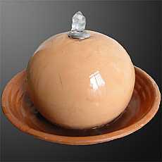 Medium Terracotta Sphere Table Top Water Feature
