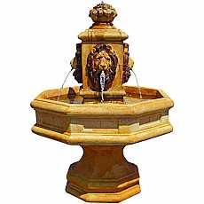 Henri Studios Classic Lion Fountain in Relic Hi Tone Water Feature