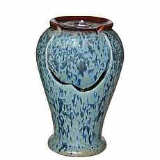 Kelkay Ceramic Mottled Urn Water Feature with LED Lights