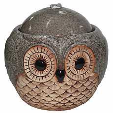 Kelkay Suzie Silver Owl Water Feature