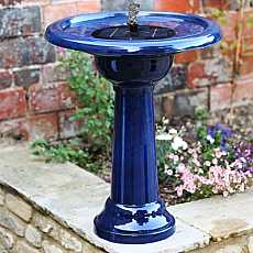 Florence Birdbath Water Feature - Blue
