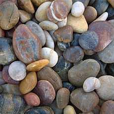 2 x 20kg Multi-Coloured Polished River Pebbles 20mm - 40mm