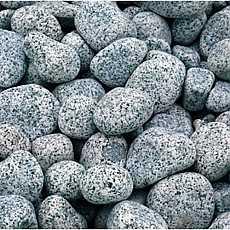2 x 20kg Silver Grey River Pebbles 20mm - 40mm