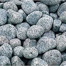 1 x 20kg Silver Grey River Pebbles 20mm - 40mm