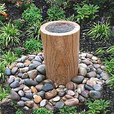 Teak Sandstone Infinity Column Water Feature