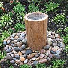 Teak Sandstone Infinity Column Water Feature