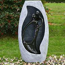 Kiss Lady In Blue Granite Water Feature
