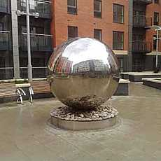 Aterno40 - 4000mm stainless steel sphere water feature
