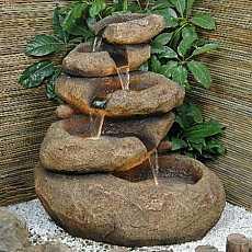 5 Level Sandstone Boulder Water Feature