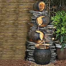 4 Pots on Rock Water Feature