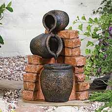 Mini Spilling Urns Garden Water Feature