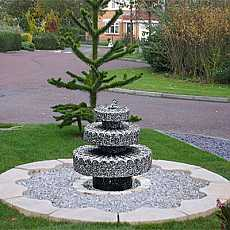 Millstone by Aqua Moda Granite Water Feature With LED Lights