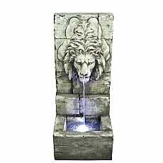 Grey Lions Head on Wall  Water Feature by Aqua Creations