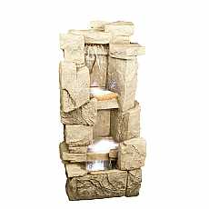 Carved Sandstone Rock Fall Water Feature by Aqua Creations